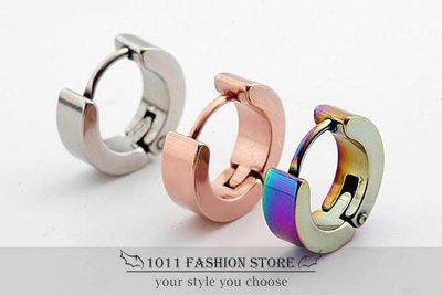韓國 型男 西德鋼 鈦鋼 不鏽鋼 男性 女性 耳環 耳釦 基本款 多色可選 BDF5C-1