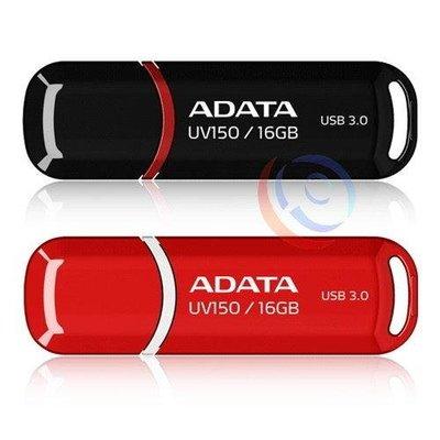 「ㄚ秒市集」ADATA 威剛 UV150 16G 16GB USB3.1 Gen1  隨身碟 黑/紅 五年保