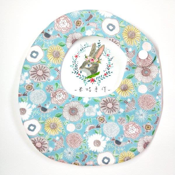 米咕手作 △ 寶寶六重紗 圍兜兜 / 口水巾 / 領巾 |小花園|