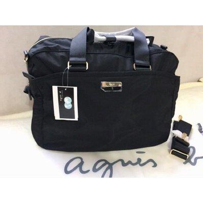 現貨❤️日本 ✨ agnes.b 加厚 尼龍防水 超美 經典款 旅行包 / 手提 側背 / 旅行袋 容量大。附收納包