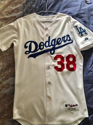 Eric Gagne 洛杉磯道奇 絕版舊款主場白球員版球衣 size 40 MLB 大聯盟