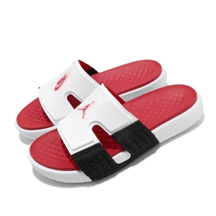 =CodE= NIKE AIR JORDAN HYDRO 8 RETRO 止滑拖鞋(白紅黑) CZ3607-100 男