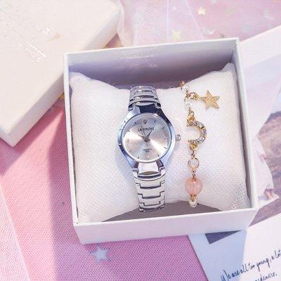 時空錶行~銀色鋼帶手錶法國小眾女生學生小錶盤復古小巧精致簡約氣質小清新