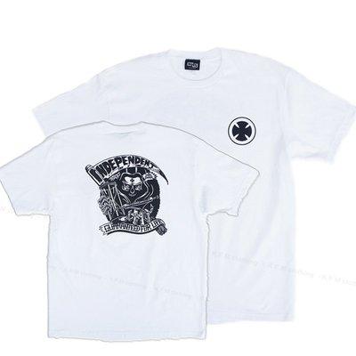 【 K.F.M 】INDEPENDENT For Life Tee 滑板輪架元老級 短袖 Logo 美國圓筒T 白色