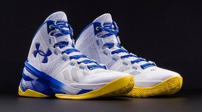 UA Under Armour Curry Two 金洲勇士隊主場配色 - one 白 藍 Stephen Curry