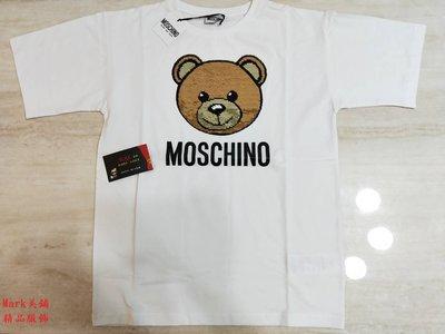 【Mark美鋪】MOSCHINO 熊 LOGO 亮片 短袖