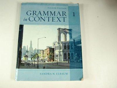【考試院二手書】《Grammar in Context  (1)》│Heinle & Heinle Pub│Sandra Elbaum│ 七~八成新(11F22)
