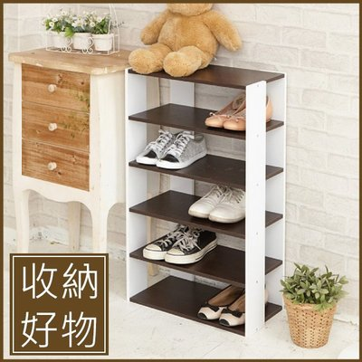 玄關 客廳 鞋櫃【居家大師】日系優雅五層木質鞋櫃SHF19 鞋架 鞋櫃 置物櫃 收納櫃