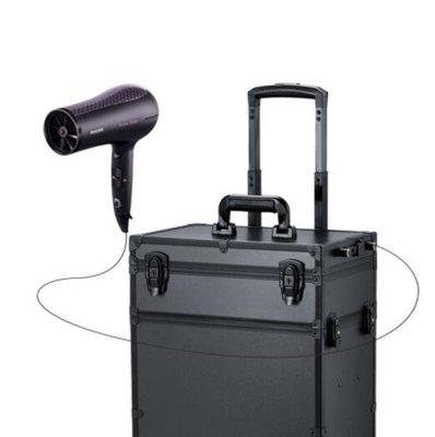 帶燈拉桿化妝箱 專業跟妝箱紋繡燈箱化妝師大容量化妝箱帶燈ATF-喜氣洋洋