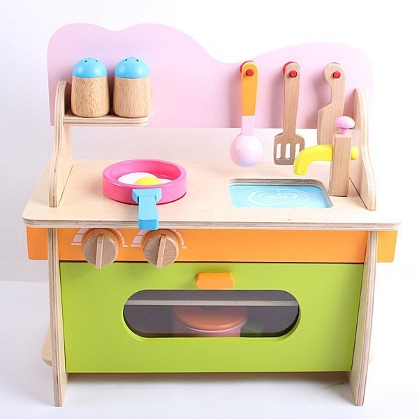 【阿LIN】193408 幼樂比 13024木製仿真灶台 廚房 小孩辦家酒 廚房 實木