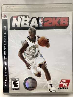 NBA 2008 2k8 籃球 灌籃 PS3 遊戲 二手商品 英文版