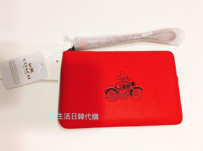 代購現貨  Coach x Disney 聯名系列 米奇真皮手拿包