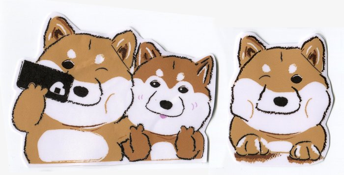 小飯糰 柴柴大型防水貼紙 自拍柴 柴犬 行李箱貼紙