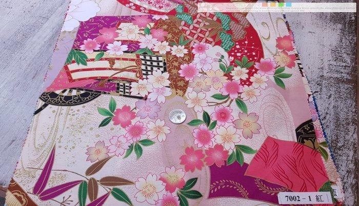 [Y0005-2] 客家花布 印花 純棉 布寬151公分  50/尺 7002日式和風櫻花牡丹 以碼計價