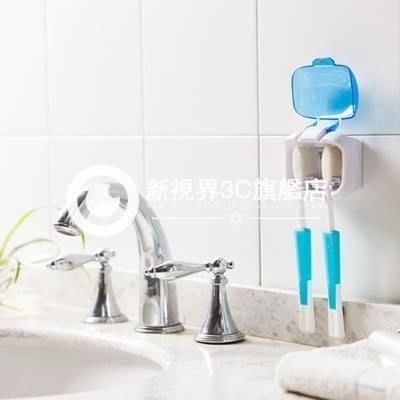 雙位紫外線牙刷消毒盒架 壁掛牙刷架帶牙刷殺菌消毒器-Dxsy11各種小禮物隨機送唷