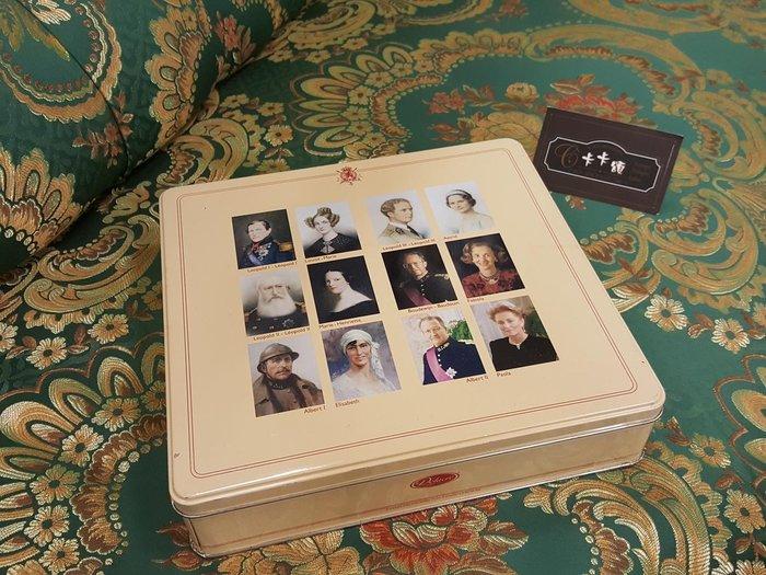 【卡卡頌 歐洲跳蚤市場/歐洲古董】歐洲老件_ 法國 Delacre 皇室老鐵盒 餅乾盒 小物收納盒 m0504提供租借✬