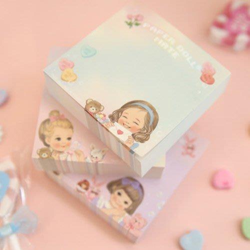 好心情日韓正品雜貨『韓國 Afrocat』matememo block ver.3洋娃娃方磚便利貼 200張入(無黏性)