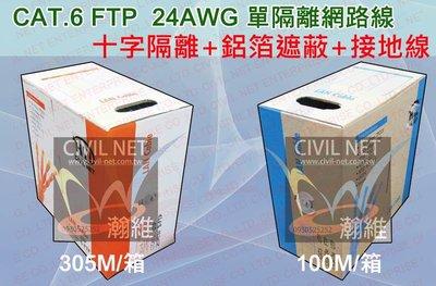 [瀚維 規格書] CAT.6 FTP 網路線 GIGA 十字隔離 鋁箔遮蔽 接地線 單隔離 售 大同 amp 太平洋