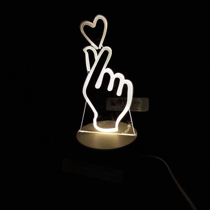 現貨 LED小夜燈 三光源-比心