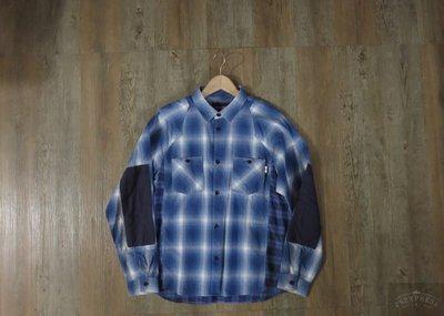 日本帶回 WHIZ LIMITED ALTERNATIVE 格紋襯衫 長袖拼接襯衫 拼布 日本製 k72 春 秋