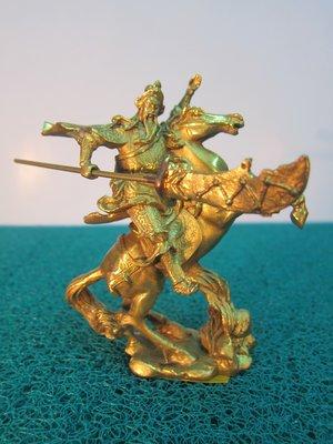 [蕃薯糖]珍藏級銅雕~;關公與赤兔馬