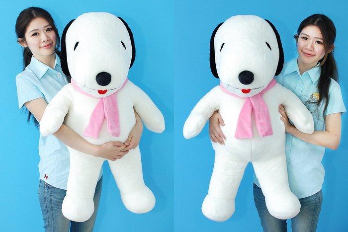 拉拉小站~可愛俏皮狗大娃娃/玩偶~圍巾款~高90公分~情人生日禮物~全省配送