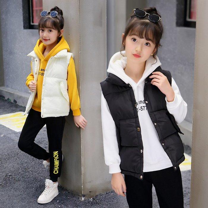 ~Linda~女童秋冬裝套裝2018新款兒童加絨加厚中大童運動衛衣三件套小女孩