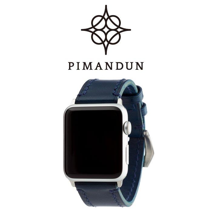 【皮曼頓】Apple Watch 經典系列-約克藍42 44mm手工錶帶 24mm錶帶 applewatch 1234代
