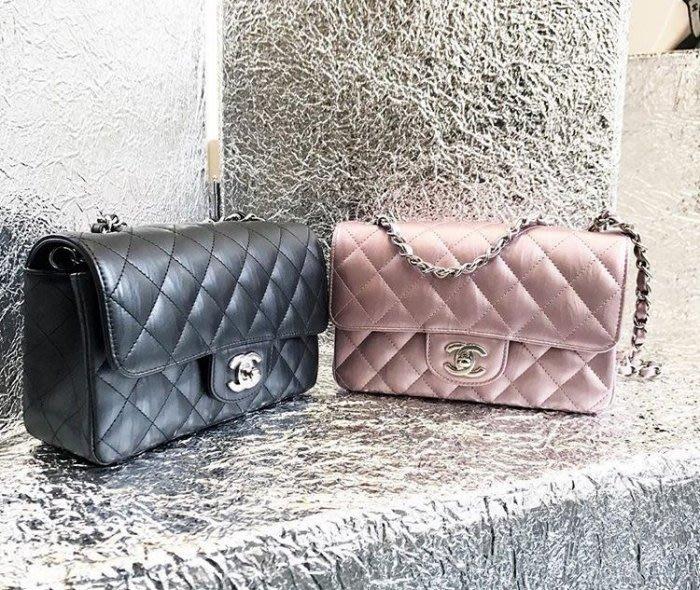 Chanel 香奈兒包 A69900 Flap Mini Coco 包 牛皮 20 cm 黑銀鍊