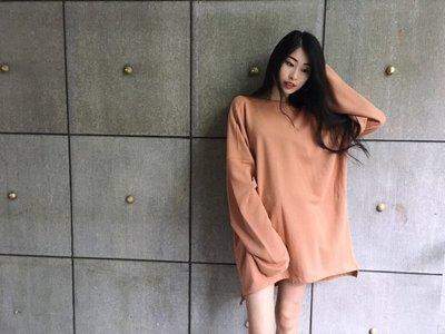 【inSAne】韓國購入 / 寬袖 / 橘駝色 / 薄長袖 / 單一尺寸