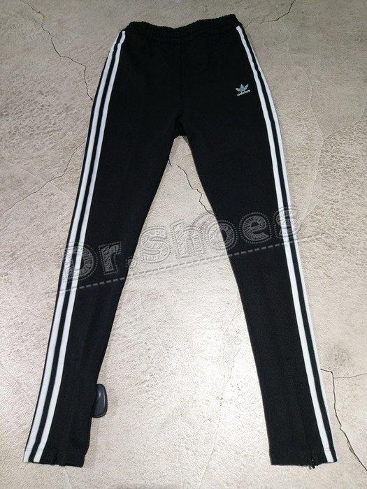 【Dr.Shoes 】Adidas Track Pant 女裝 黑白 小腿拉鍊 休閒 運動長褲 DH4237