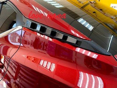[[娜娜汽車]] 日產 2020 SENTRA B18專用 後車窗卡夢飾貼 ABS水轉印 一組2片 左右各一