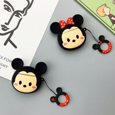米奇AirPods保護套1/2代米妮迪士尼新蘋果無線藍牙耳機硅膠軟外殼