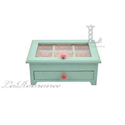 【Creative Home】Cottage Chic 法式田園系列木製單抽置物盒 / 收納盒 / 首飾盒