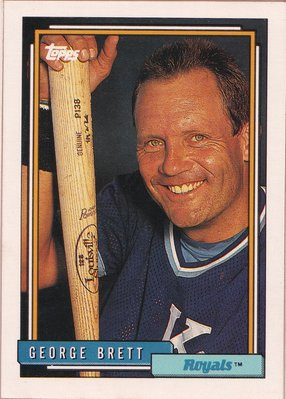 1992 Topps #620 George Brett Kansas City Royals