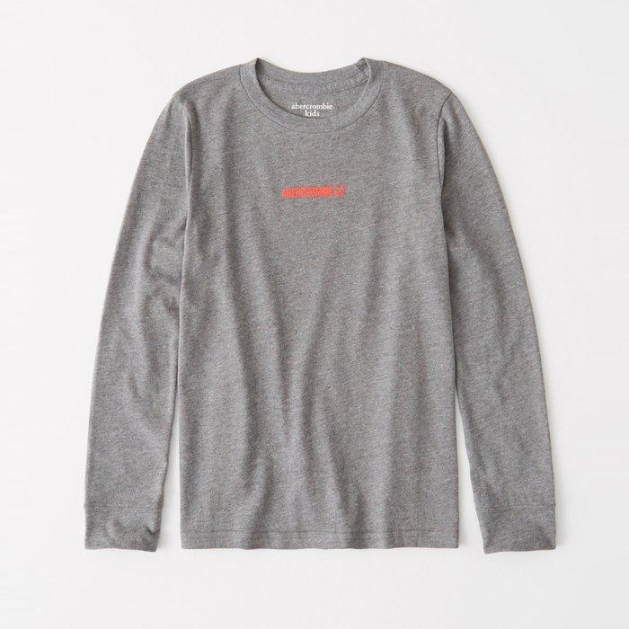 【abercrombie kids】【a&f】af男童款長袖T恤印小橘字鹿灰 F07191118-35