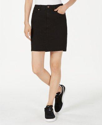 usa~購物趣~Macy's 【Celebrity Pink  】女生全新黑色牛仔裙~5 (27腰)