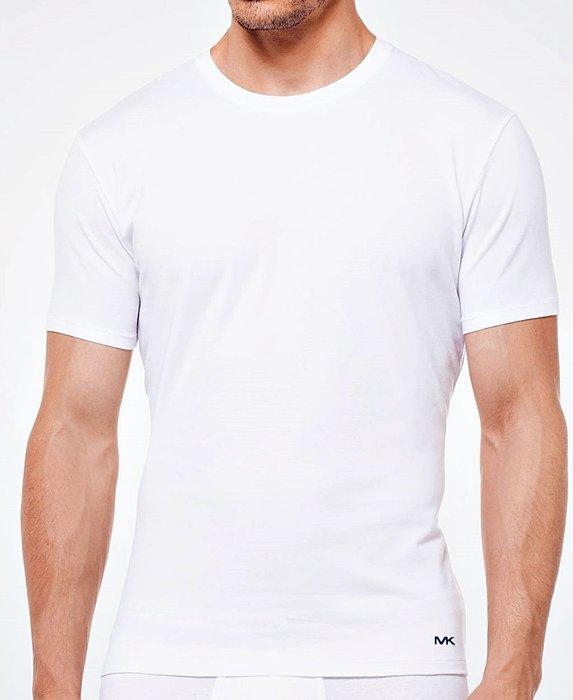 全新從未開過 Michael Kors 男子白色短袖內衣 L 號,一組兩件,只有一組!低價起標無底價,本商品免運費!