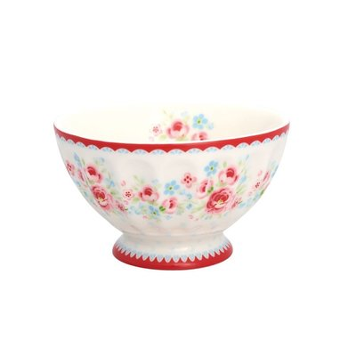 GreenGate French Bowl Tess White - Medium (法式拿鐵碗)