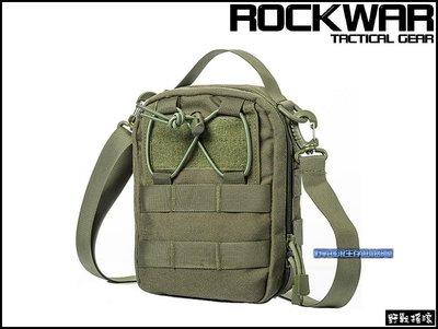 【野戰搖滾-生存遊戲】ROCKWAR 側背式戰術醫療包【軍綠色】側背包急救包雜物包單肩包勤務包腰包 新北市