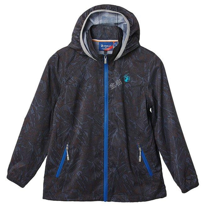 WILDLAND 荒野 男女 兒童 抗UV輕薄防曬外套 薄外套 抗UV外套 兒童外套 童裝外套 0A61960-93
