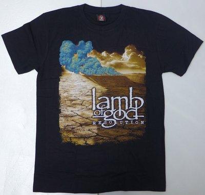 【Mr.17】 Lamb of God 上帝羔羊樂團 RESOLUTION 美式重金屬樂團T-SHIRT短袖(H599)