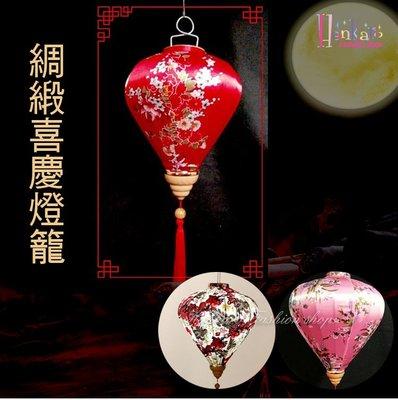 ☆[Hankaro]☆春節系列商品精緻綢緞喜慶燈籠掛飾(花紋系列)(單個)