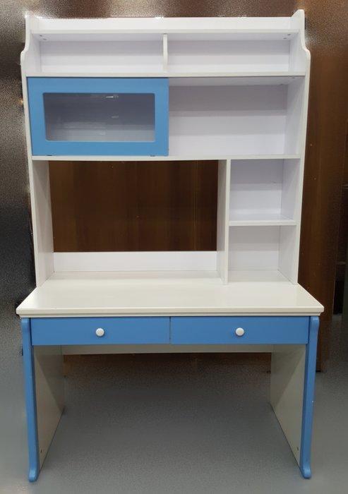 宏品二手家具館 中古傢俱賣場 F62611藍白色書桌*中古桌椅 電腦椅 餐桌椅 戶外休閒桌椅 洽談椅 辦公椅 泡茶椅