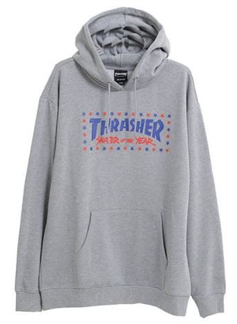 【HOPES】 THRASHER SOTY HOODED-HEATHER GRAY