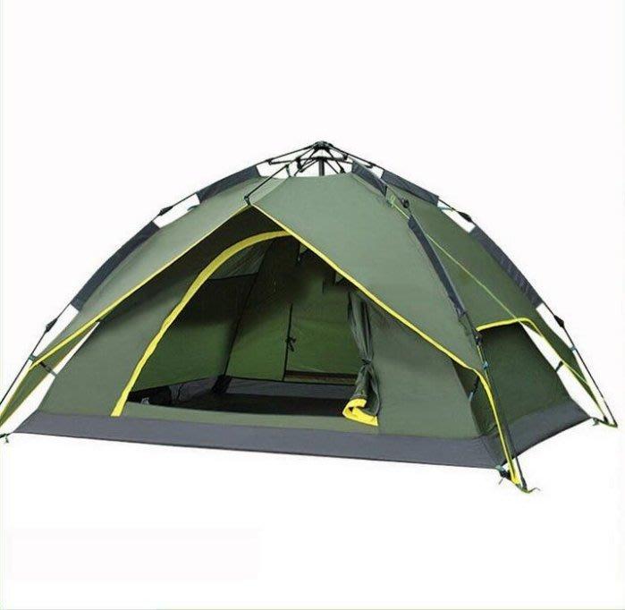 全新 戶外帳篷3~4人全自動多人防雨帳篷雙人雙層露營野營帳篷