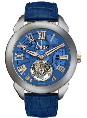 Jacob & Co. 捷克豹 Palatial Flying Tourbillon Hours & Minutes Blue PT520.24.NS.QB.A