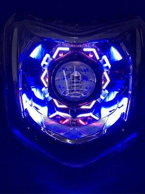 全新4代勁戰 魚眼頭燈 極光X6魚眼 送HID 四代 新勁戰