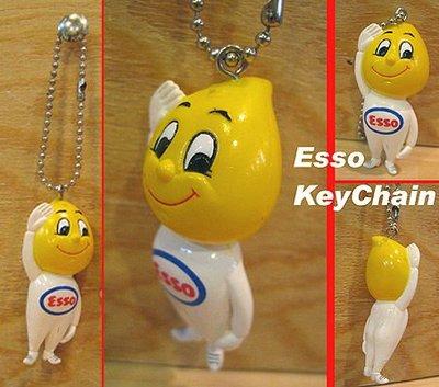(I LOVE樂多)經典油品老牌ESSO埃索油滴人鑰匙圈吊飾 (日本進口)