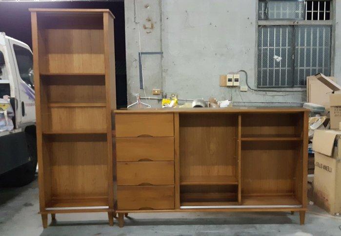 美生活館--全新鄉村傢俱訂製 客製化 全紐松原木柚木色 L型收納櫃 雙推門四抽收納櫃 置物櫃 餐邊櫃 衣物收納櫃 碗盤櫃